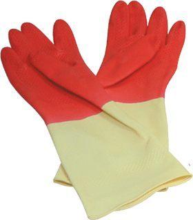 打掃必備【史代新文具】康乃馨 家庭用 雙色手套/塑膠手套/清潔手套
