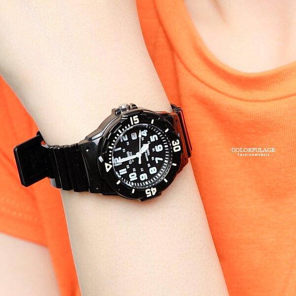 CASIO卡西歐 黑色小巧休閒運動腕錶 個性百搭手錶 膠錶 柒彩年代【NEC66】