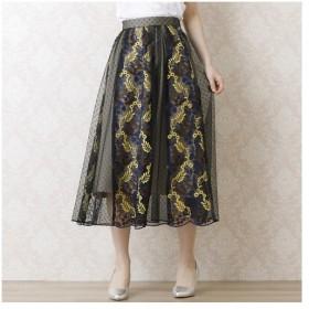 Rose Tiara / ローズティアラ チュール刺繍フレアスカート