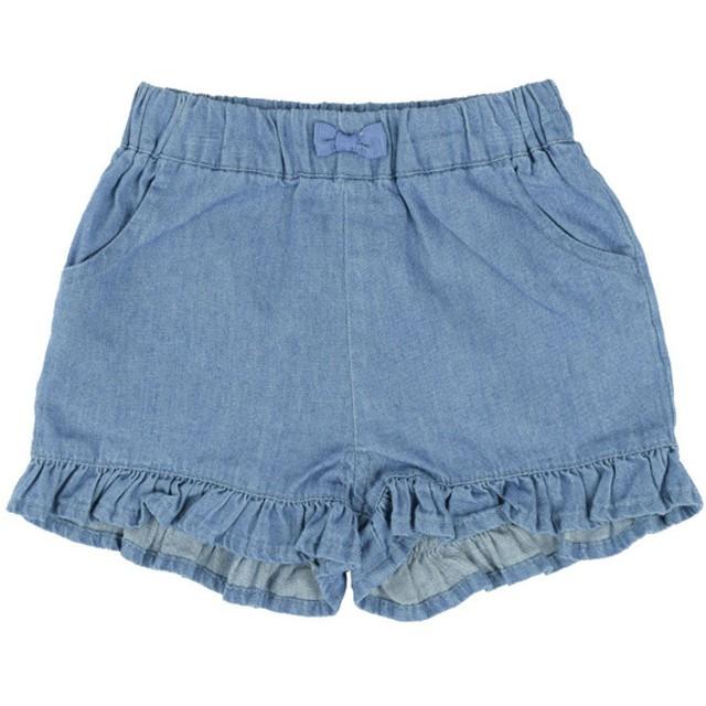 [ベビー]シンプルフリー ショートパンツ 布帛 ブルー ベビー・キッズウェア ベビー(70~95cm) ボトムス(女児) (107)