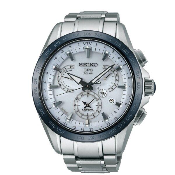 Seiko 精工錶 Astron 8X53-0AB0S(SSE047J1)鈦金屬時尚太陽能GPS校時腕錶/白面44.6mm