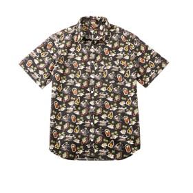 日本製 綿100%アロハ柄半袖カジュアルシャツ カジュアルシャツ