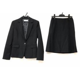 ナチュラルビューティー ベーシック NATURAL BEAUTY BASIC スカートスーツ サイズM レディース 黒 ストライプ【中古】