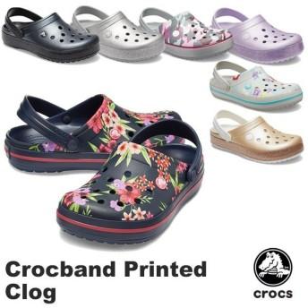 クロックス CROCS クロックバンド プリンテッド クロッグ crocband printed clog メンズ レディース サンダル 男女兼用 [BB]