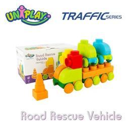 UNIPLAY抗菌軟積木 交通系列 道路救援車組