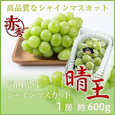 【天天果園】日本晴王麝香葡萄原裝5kg/箱(8串入)