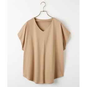 綿100%汗ジミ防止加工付ドルマンTシャツ (Tシャツ・カットソー)(レディース)T-shirts, T恤
