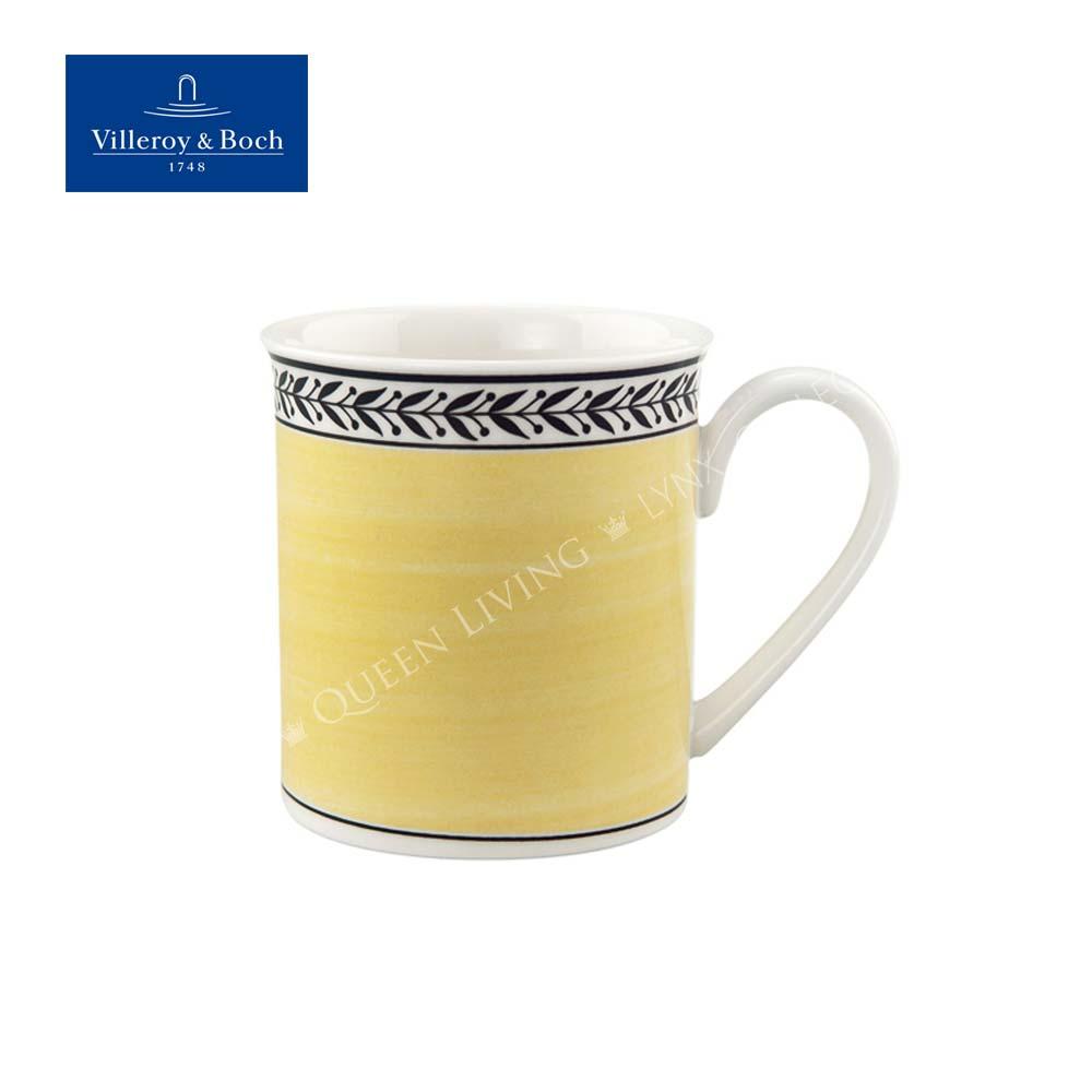 德國Villeroy&Boch 奧頓 Audun 300ml馬克杯-Fleur 黃邊花環