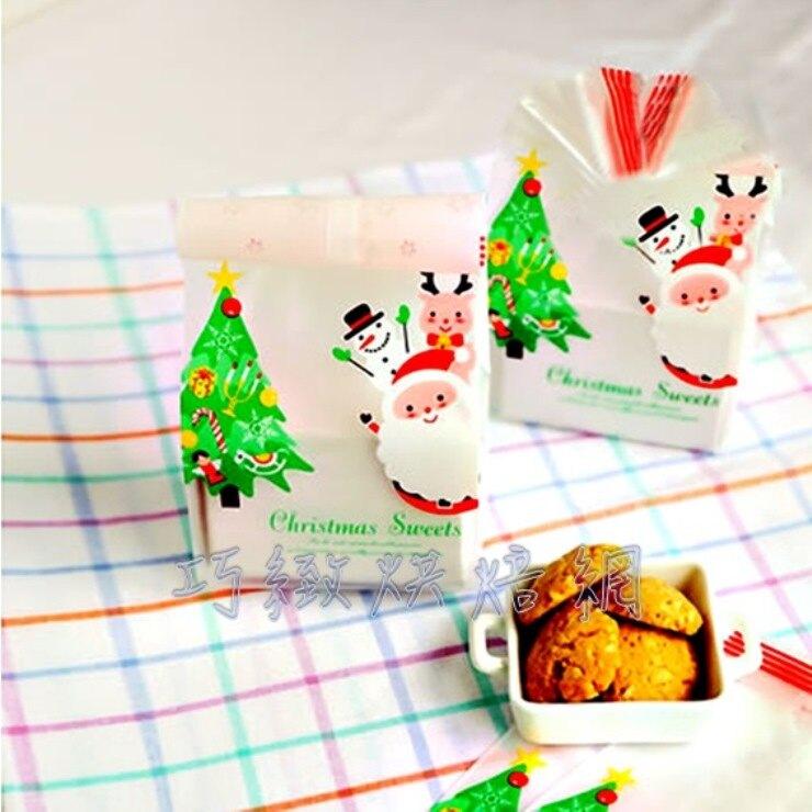 巧緻烘焙網【編號F038】聖誕節  平口袋 點心袋 糖果袋 餅乾袋 西點袋 烘焙包裝 熱封袋 封口袋