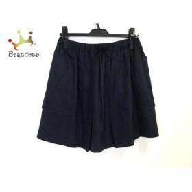 ドゥロワー Drawer スカート サイズ38 M レディース 美品 ダークネイビー シルク   スペシャル特価 20190919