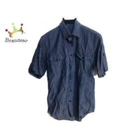 リチウムオム LITHIUMHOMME 半袖シャツ メンズ ブルー 新着 20190621