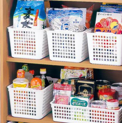 【收納框-PP-白色-五種規格可選-2個/組】收納框塑膠筐食品收納籃桌面收納盒廚房家居創意-726004