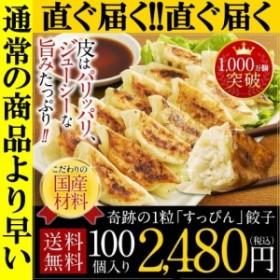 直ぐ届く 餃子 冷凍 ぎょうざ ギョウザ すっぴん餃子 100個 送料無料 中華 訳あり グルメ 取り寄せ 大阪