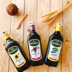 奧利塔 經典9入綜合油品組(葵花油X3+橄欖油X3+葡萄油X3);1000ML/瓶
