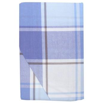 メリーナイト 綿100% 敷布団カバー 「オントーン」 ダブルロング サックス MN634052-76