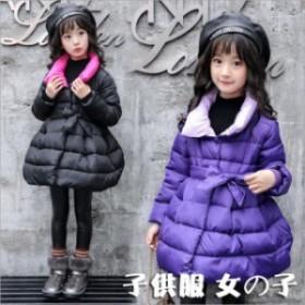 ダウンコート 子供服 女の子 無地 中綿コート ジャケット キッズコート 子供コート 女の子服 韓國風 アウター ロングコート