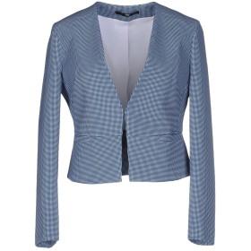 《セール開催中》PRIVE' ITALIA レディース テーラードジャケット ブルー 46 ポリエステル 88% / ポリウレタン 12%