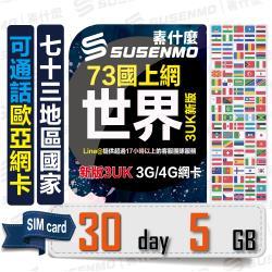 【素什麼】歐洲網卡 澳洲SIM卡 30天10GB流量4G上網  快速發卡 適用英國、美國等73國(3UK10GB)