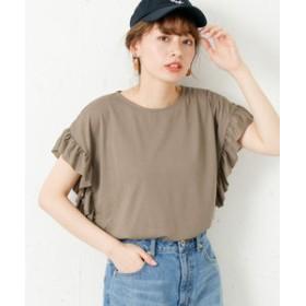 【URBAN RESEARCH:トップス】フリルデザインTシャツ
