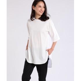 7-ID concept バックロングワイドカットソー Tシャツ・カットソー,オフホワイト1