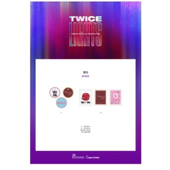 TWICE 公式グッズ TWICE WORLD TOUR 2019 TWICELIGHTS IN SEOUL バッジセット