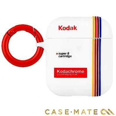美國 CASE●MATE AirPods 柯達聯名款保護套 - 白色 贈掛環及磁性防丟繩