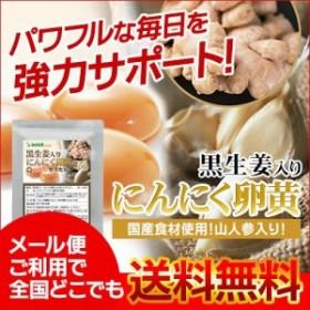 黒生姜入りにんにく卵黄+山人参カプセル 約1ヵ月分 サプリメント 健康維持 1m500