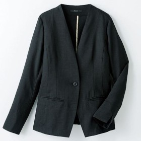 40%OFF【レディース】 ノーカラージャケット - セシール ■カラー:ブラック ■サイズ:9号,13号,11号,15号,7号