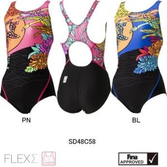 スピード(SPEEDO) 女性用 競泳水着 FLEX ΣウイメンズコンフォカットスーツSD48C58