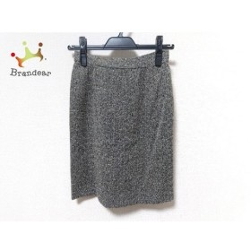 バレンシアガ BALENCIAGA スカート サイズ38 M レディース 美品 黒×アイボリー La Mode 新着 20190621
