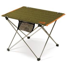 アウトドアテーブル アウトドアマン ロールアップアルミテーブル グリーン