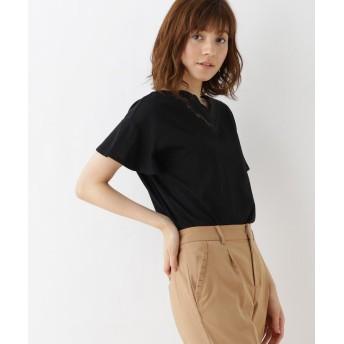 Couture Brooch(クチュールブローチ) 【WEB限定サイズ(SS・LL)あり】スカラップネックカットソー