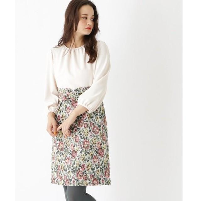Couture Brooch / クチュールブローチ 【WEB限定サイズ(S・LL)あり】ゴブラン織りドッキングワンピース