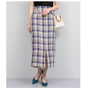 ROPE' / ロペ リネンチェックタイトスカート