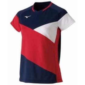 ドライサイエンスゲームシャツ(ラケットスポーツ)(レディース)【MIZUNO】ミズノテニス ウエア ゲームウエア(72MA9221)