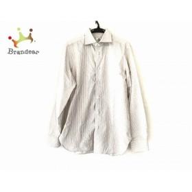 ボレリ BORRELLI 長袖シャツ サイズ41 メンズ 美品 白×ベージュ ストライプ 新着 20190621