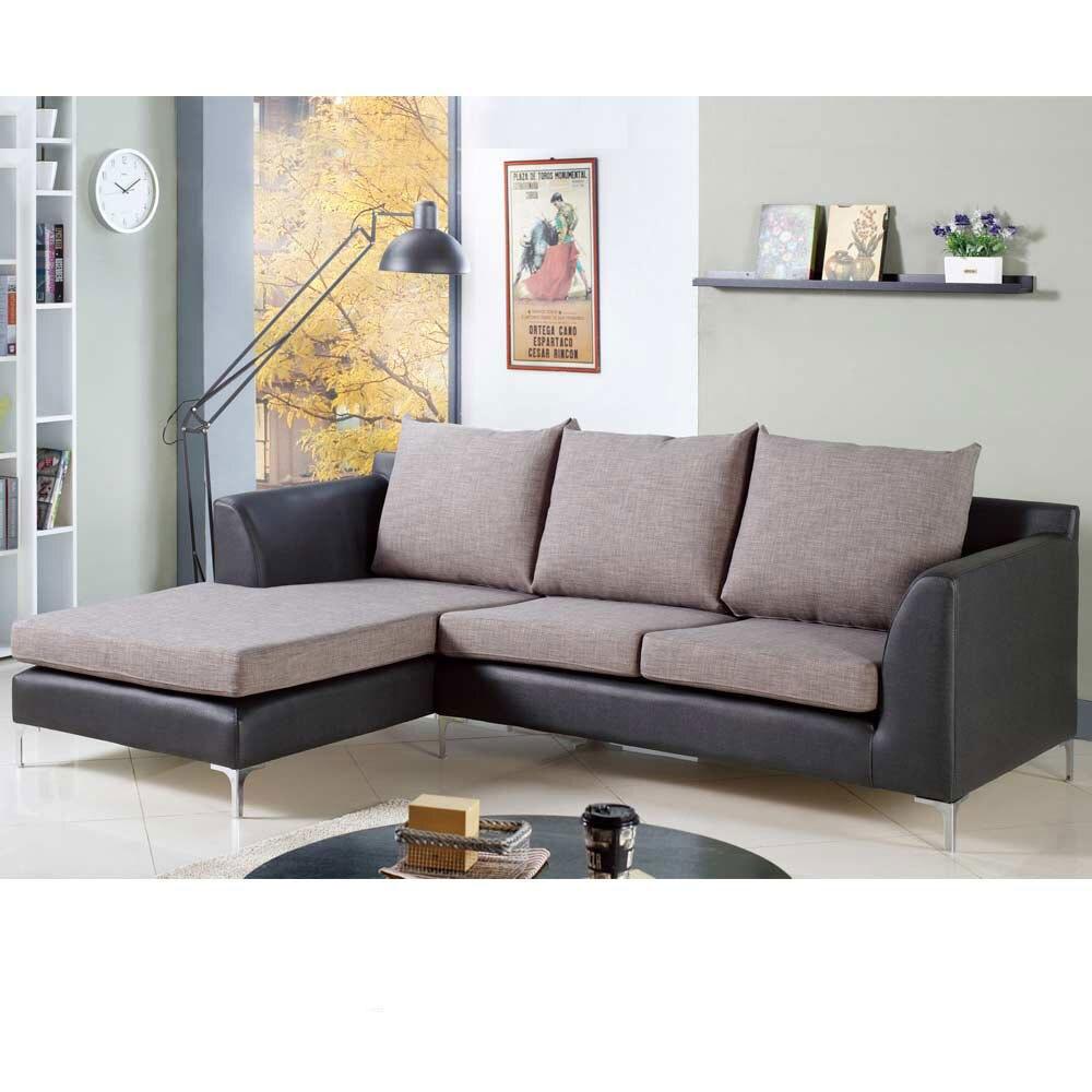 摩根L 型雙色沙發—右L