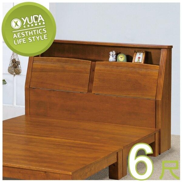 床頭箱【YUDA】中式 克莉絲 雙人加大 全實木 6尺 床頭櫃/床櫃 K9F 164-3
