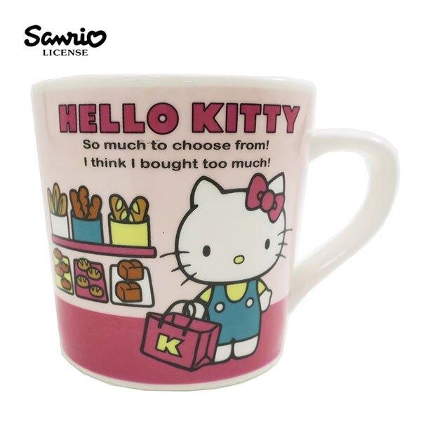 粉色款【日本正版】凱蒂貓 陶瓷 馬克杯 200ml 咖啡杯 Hello Kitty 三麗鷗 Sanrio - 443559