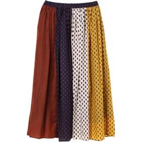 【6,000円(税込)以上のお買物で全国送料無料。】【WEB限定プライス】・パターンMIXアシメスカート