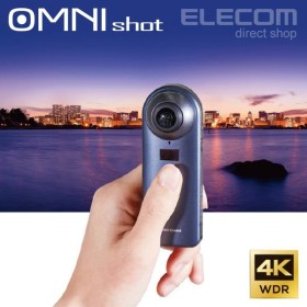 360度カメラ VRカメラ OMNIshot 4K対応 360度 動画撮影 ブラック┃OCAM-VRW01BK アウトレット エレコム わけあり