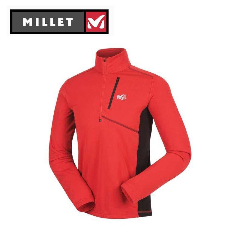 【下殺5折】專櫃品牌出清 Millet MIV4911 POWER STRETCH Polartec 保暖排汗衣 四向伸縮彈性快乾排汗布料 旅遊賞雪登山