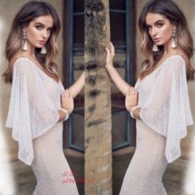 ウェディングドレス ロングドレス 姫系ドレス 韓国風 aライン 大きいサイズ イブニングドレス 刺繍 パーティードレス 二次会 イブニング