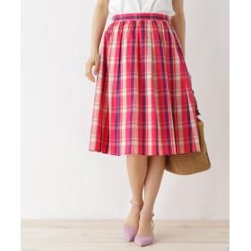 Couture Brooch(クチュールブローチ) 【WEB限定サイズ(S・LL)あり】マドラスチェック柄スカート