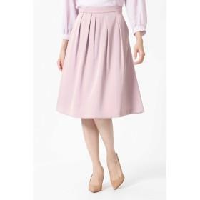 NATURAL BEAUTY タックフレアカラースカート