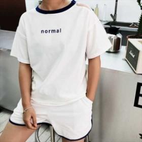 春 夏 セットアップ ツーピース 大きいサイズ ホワイト 白 半袖 パンツ ショートパンツ リゾート 海 プール 韓国 プチプラ SY-6-159