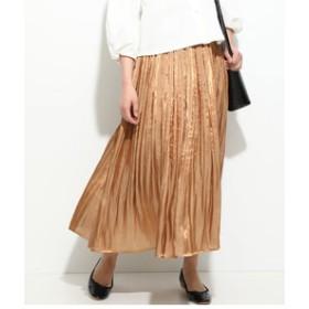 【ViS:スカート】【ドラマ着用】シャイニーサテンフェードアウトプリーツスカート