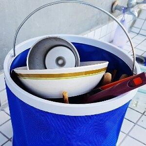 美麗大街【S107102317】便攜式折疊水桶 露營野外水桶 洗車桶 釣魚桶