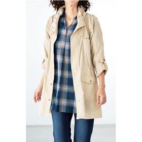 【レディース】 軽量ジャケットコート(洗濯機OK) - セシール ■カラー:ベージュ ■サイズ:LL