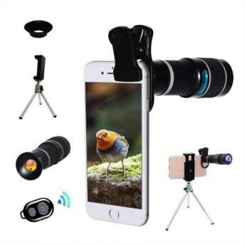 Bostionye スマートフォン 望遠鏡 ヘッド (高品質HD20倍 シングル レンズ ズーム 望遠鏡) スマホレンズ 望遠 レンズ スマートフォン 三脚 Android と iphone 98